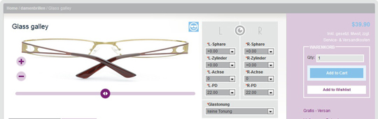 magento tryon glasses