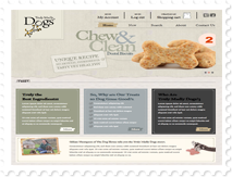 A range of dog training treats and dog's food store